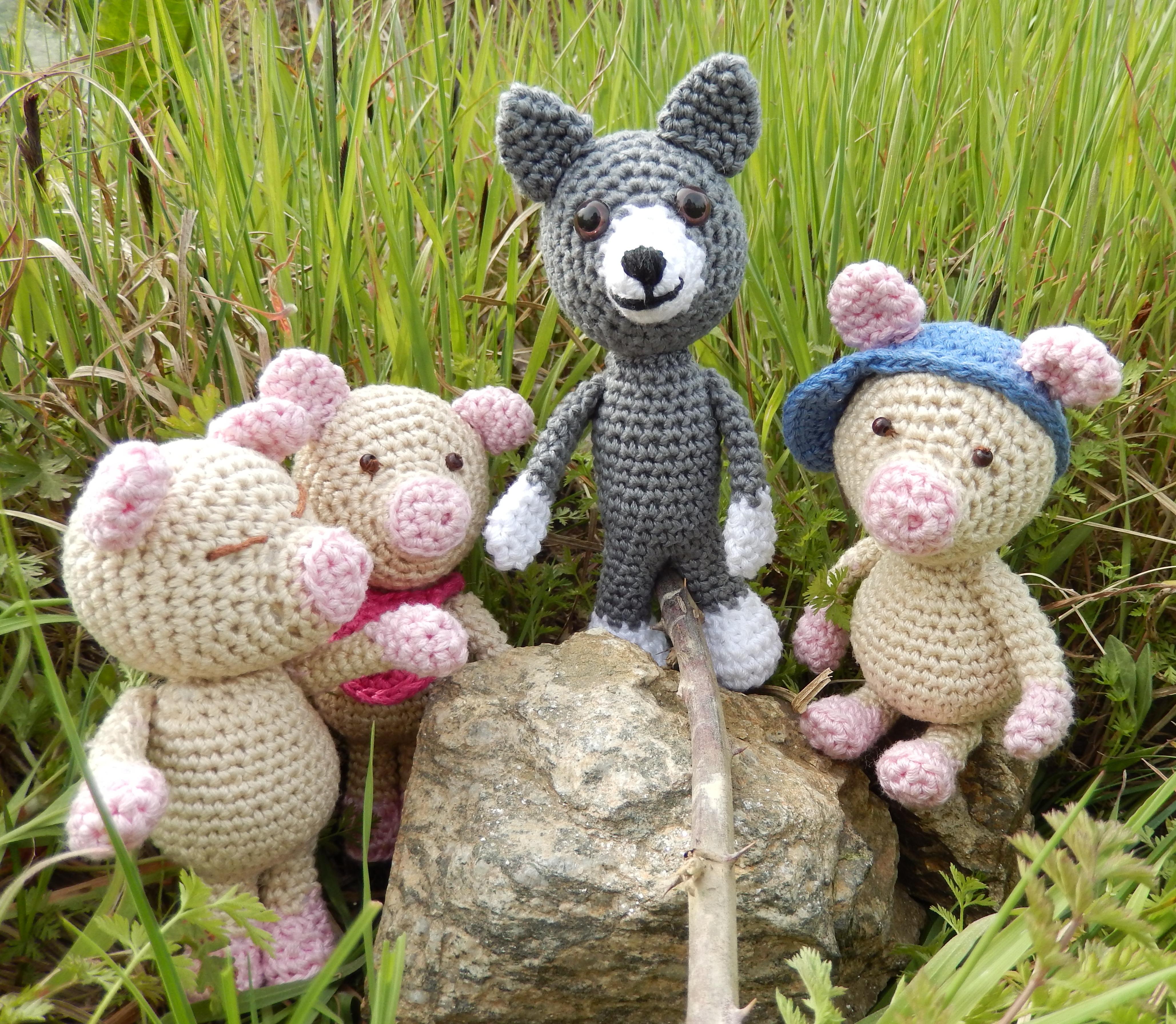 amigurumi, crochet Goldilock and the Bears, Guldlock och de tre ...