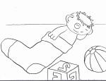Mo schläft in Socke